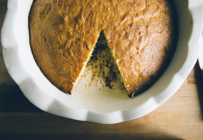 Cornbread cake, quick bread