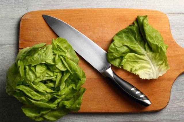 lettuce on a cutting board