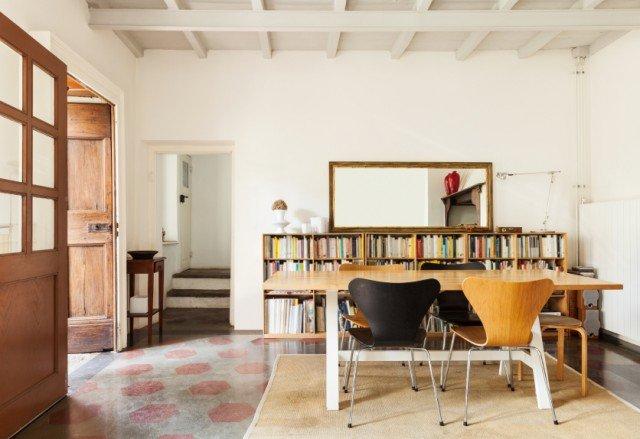 dining room, loft interior