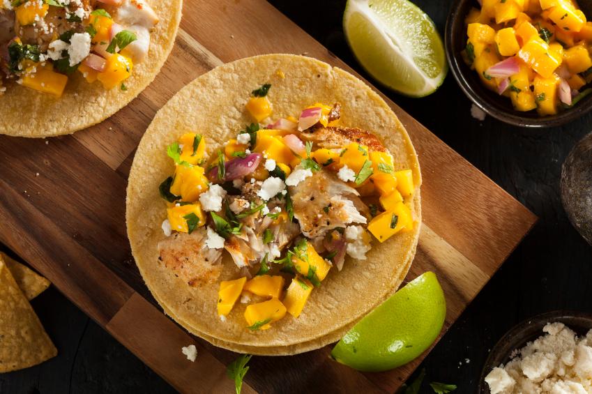 Mango Fish Tacos