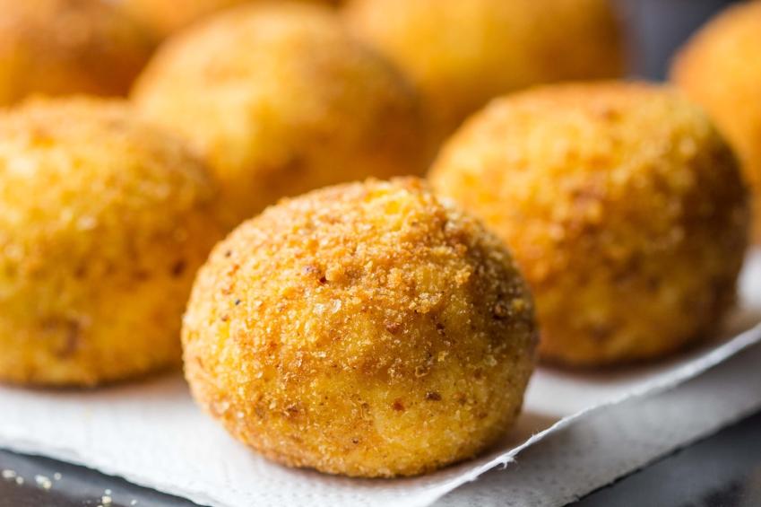 Falafel, appetizer arancini
