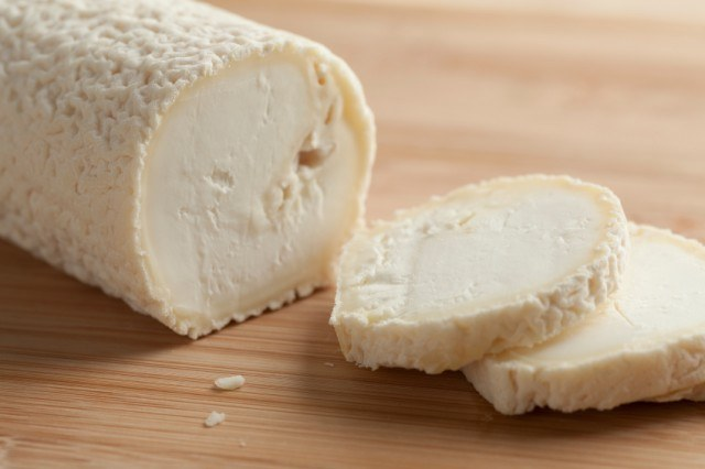 Fresh goat cheese log
