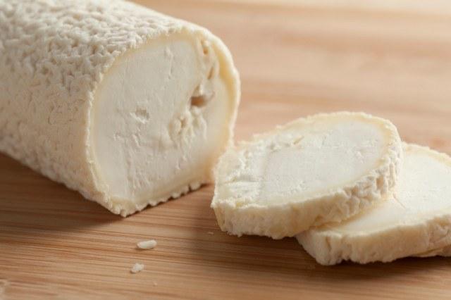 Fresh goat cheese log
