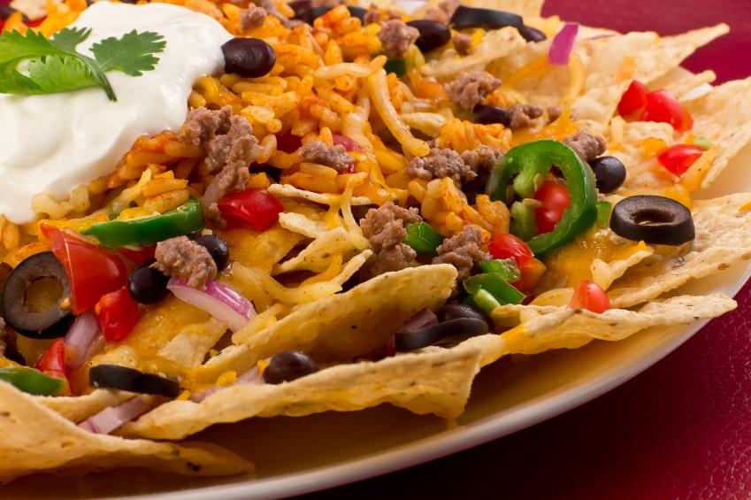 rice and bean nachos