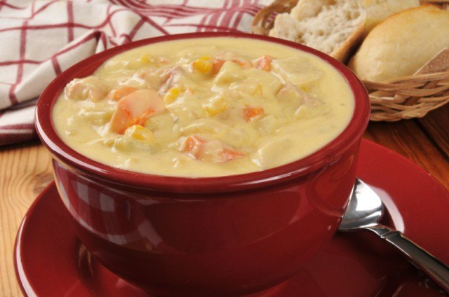 chowder with veggies