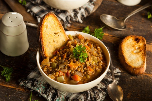 Brown Lentil Soup, stew