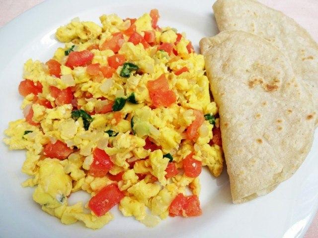 Tex-Mex breakfast scramble