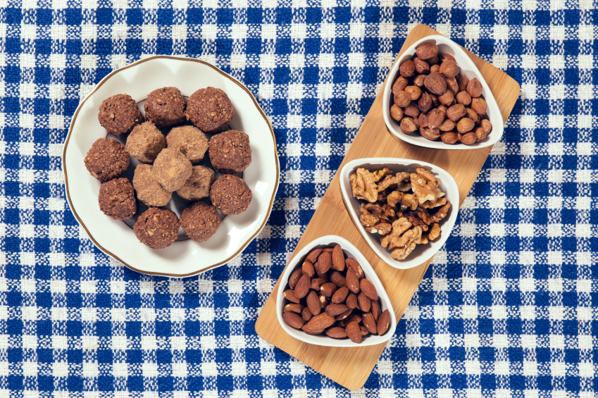 Almonds, Nuts, protein balls