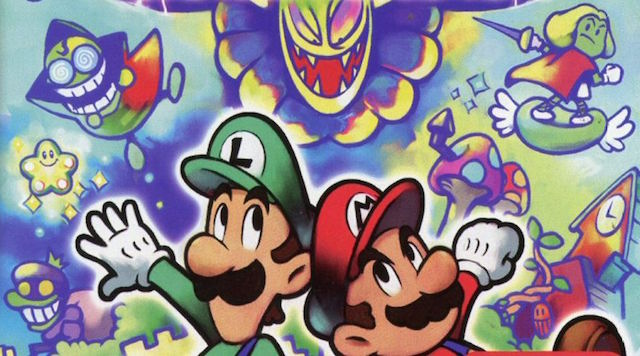 Mario and Luigi run from enemies in the Mushroom Kingdom.