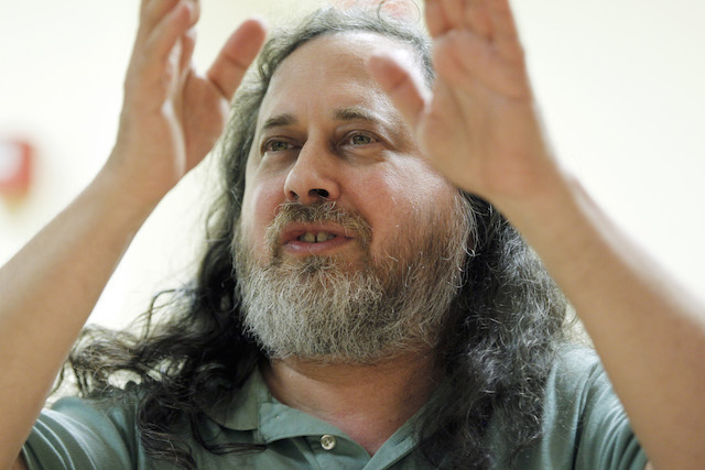 US software freedom activist and computer programmer Richard Stallman