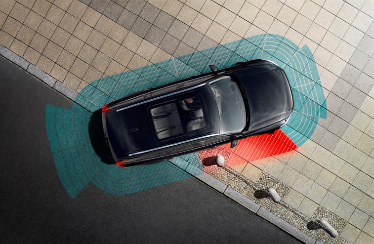 illustration of car sensors