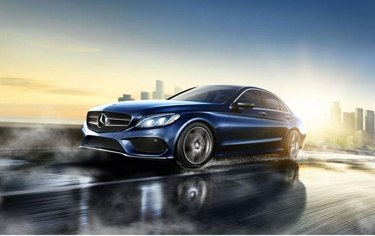 OEM photo of 2015 Mercedes-Benz C-Class in blue
