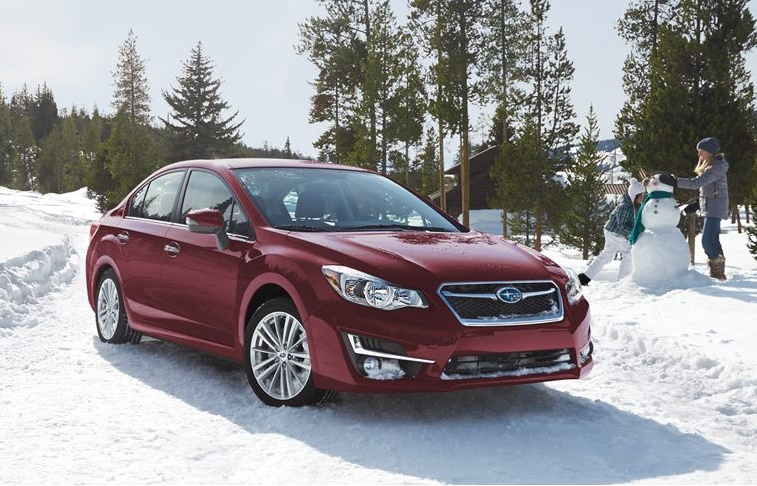2015 Subaru Impreza parked in the snow