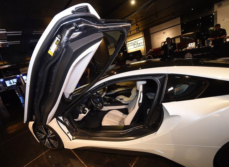 Luxury brand BMW showcases a new i8 model