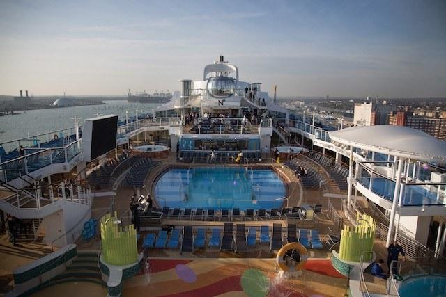 Deck of a Cruise Ship