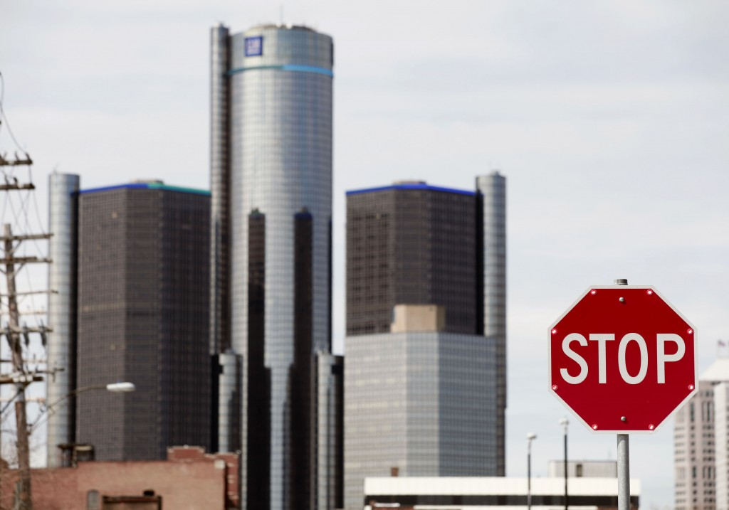 A stop sign in Detroit
