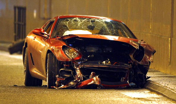 A crash Ferrari