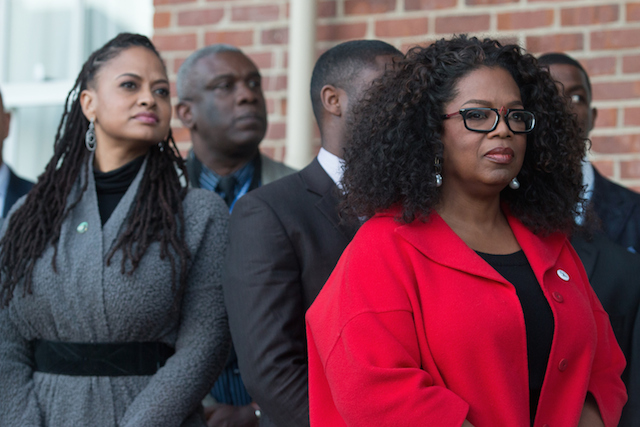 """""""Selma"""" director Ava DuVernay and producer/actress Oprah Winfrey participates in the ceremony to commemorate the life of Dr. Martin Luther King, Jr. on January 18, 2015 in Selma, Alabama."""