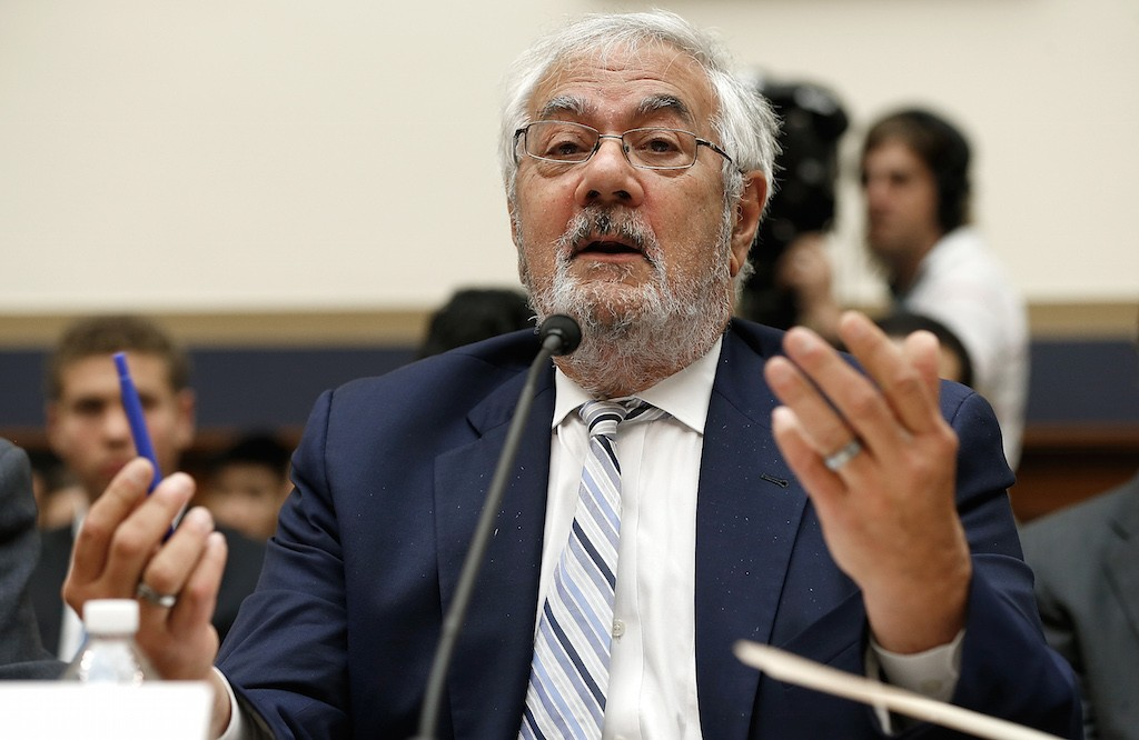 Former House Financial Services Committee chairman Barney Frank (D-MA) testifies before the House Financial Services Committee July 23, 2014 on Capitol Hill in Washington, DC. Frank testified during the committee's hearing on 'Assessing the Impact of the Dodd-Frank Act Four Years Later.' (Photo by Win McNamee/Getty Images)