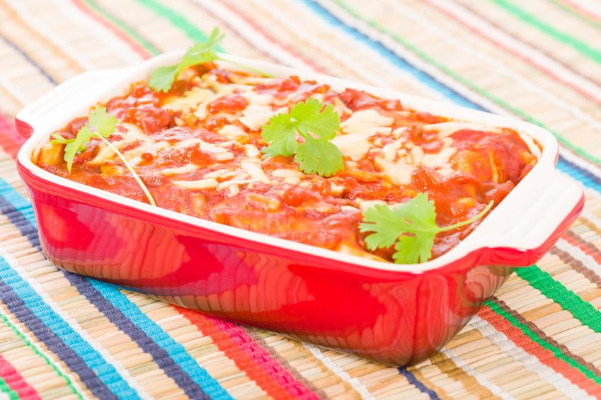Chicken and Chorizo Enchiladas, casserole