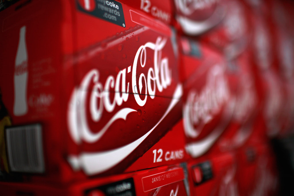 A detail view of Coca-Cola products at a convenience store on April 25, 2011 in Fort Worth, Texas. Coca-Cola Company, the world's largest soft drink maker, is expected to announce its 2011 first-quarter earnings report before the markets open Tuesday, April 26, 2011. (Photo by Tom Pennington/Getty Images)