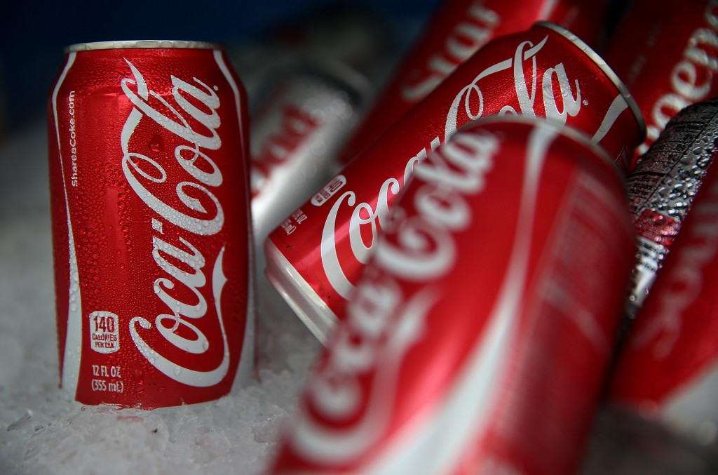 Cans of Coca Cola are displayed in a food truck's cooler on July 22, 2014 in San Francisco, California. The San Francisco Board of Supervisors will vote on Tuesday to place a measure on the November ballot for a 2-cents-per-ounce soda tax. If the measure passes in the November election, tax proceeds would help finance nutrition, health, disease prevention and recreation programs. (Photo by Justin Sullivan/Getty Images)