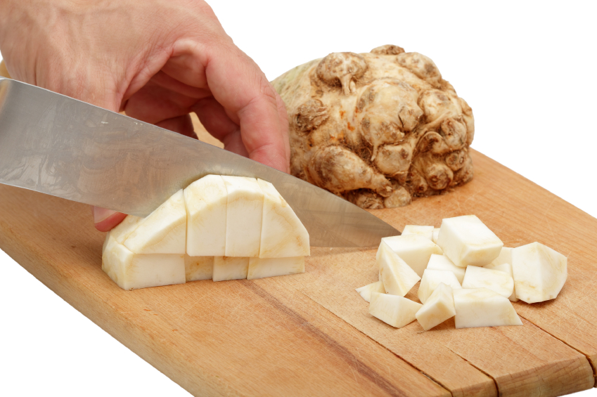 Cutting Celery Root