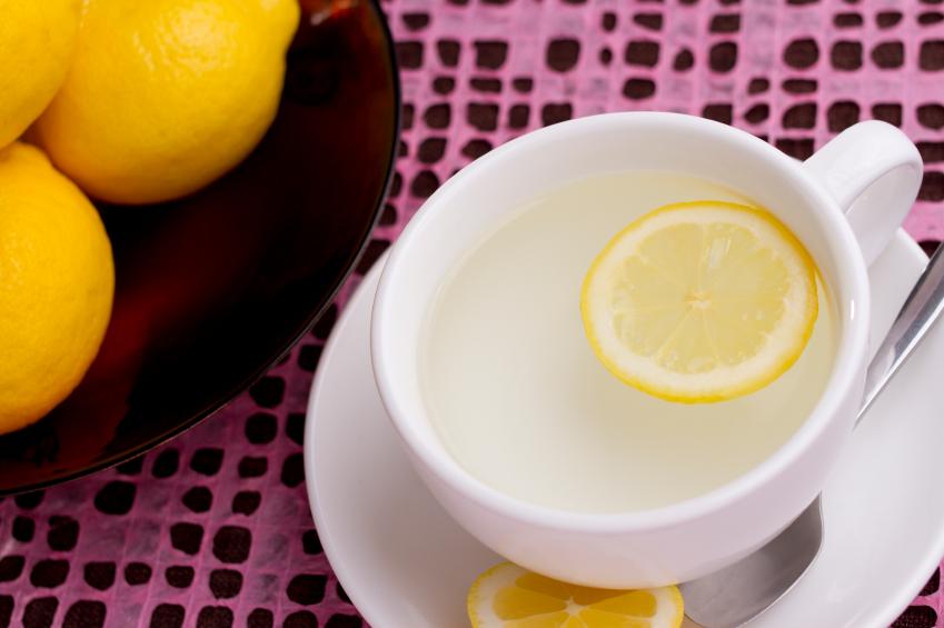 water, lemon