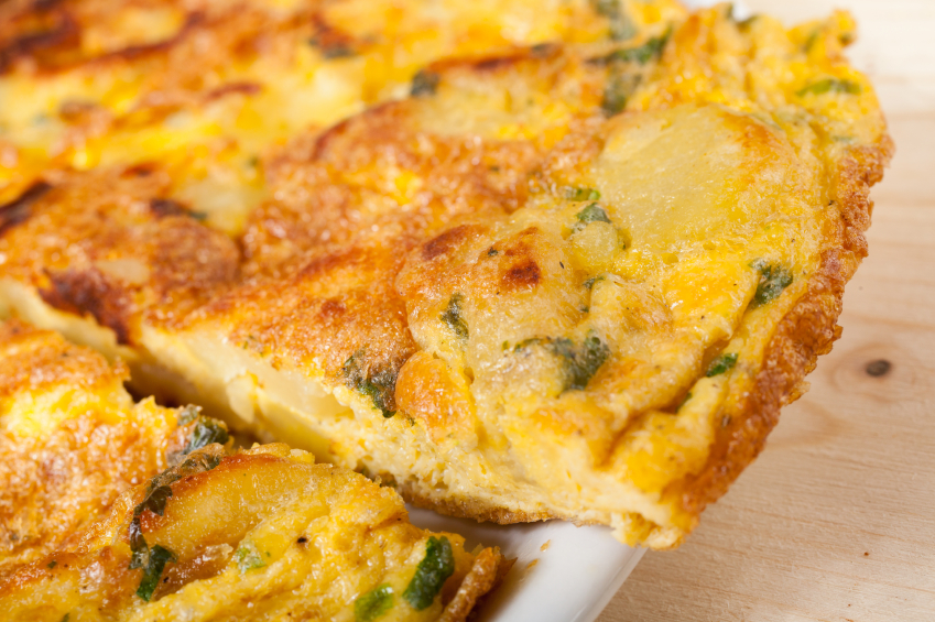 Frittata, potatoes
