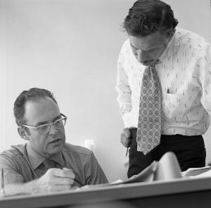 Gordon Moore and Robert Noyce at Intel