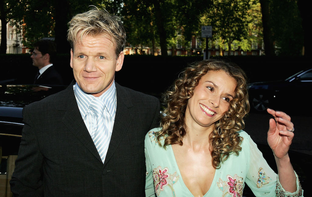 Gordon Ramsey and his wife Tana attend the launch party for his new restaurant Maze at it's London Marriott Hotel, Grosvenor Square location on May 24, 2005 in London, England. (Photo by Gareth Cattermole/Getty Images)