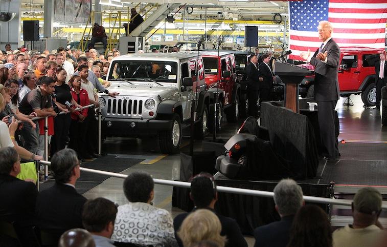 Vice President Joe Biden at FCA's Toledo Assembly plant