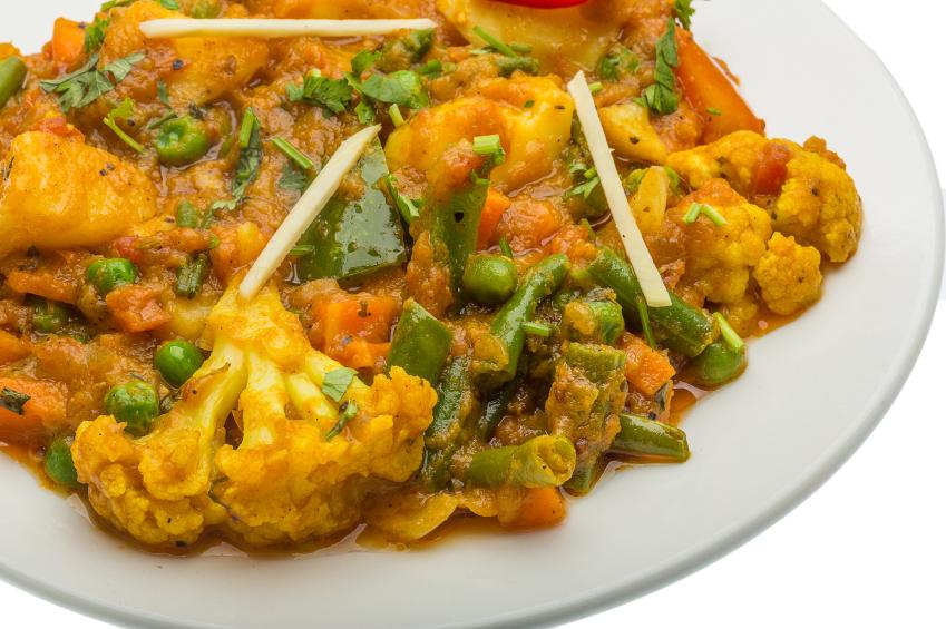 Mix vegetable masala, cauliflower, beans