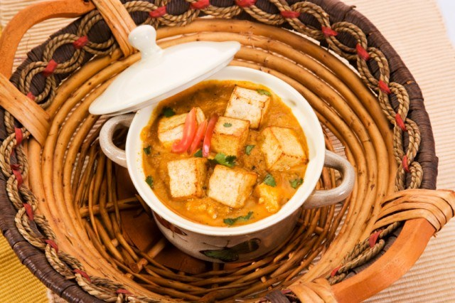 Paneer Masala or Cheese Cooked in a Creamy Sauce