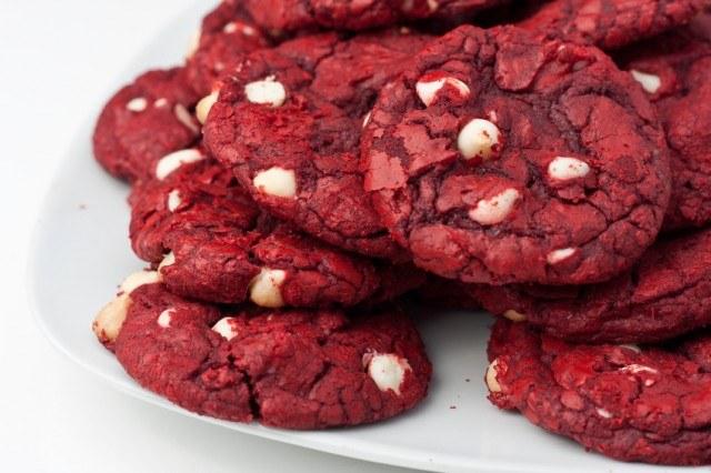Plate of Red Velvet Cookies