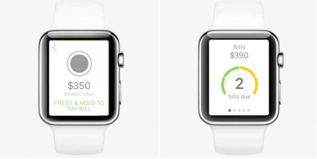 Letter Society Mint Bills Apple Watch app mockup