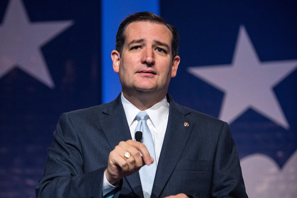 Senator Ted Cruz argues a lot on behalf of the wealthy.