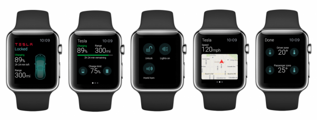 ELEKS Labs Tesla Apple Watch app