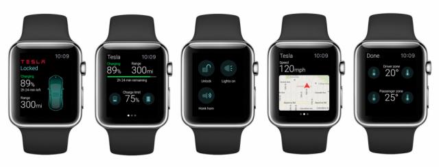 ELEKS Labs Tesla Apple Watch app