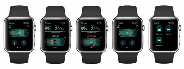 ELEKS Lab Tesla Apple Watch app