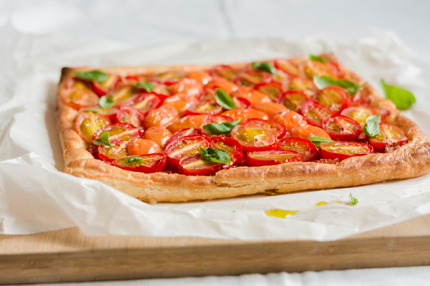Tomato puff pastry, tart, pie