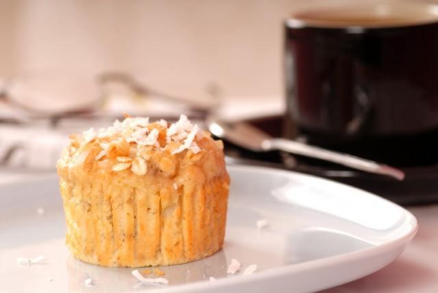 mango coconut walnut muffins