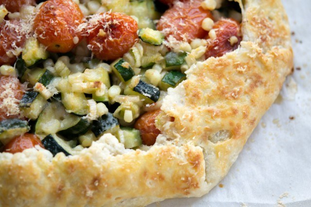 Vegetable Galette, Corn, Tomatoes, Zucchini, Pastry