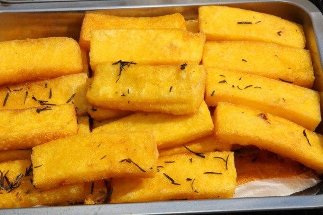 Polenta, baked, fries