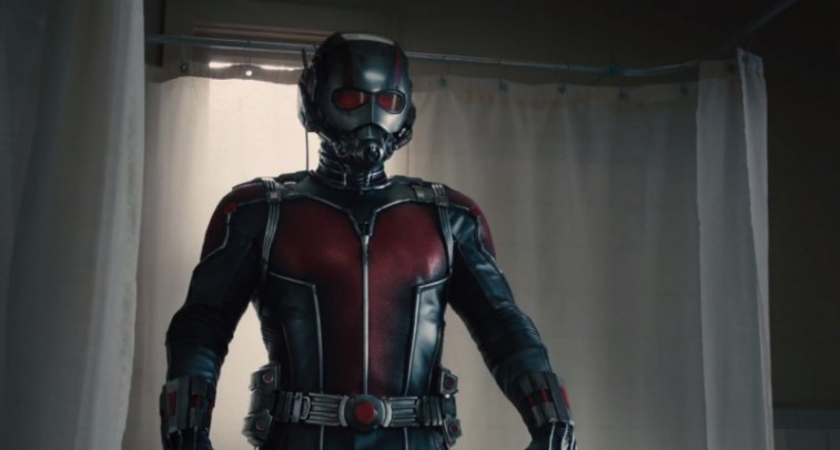 Ant-Man stands in front of a bath tub