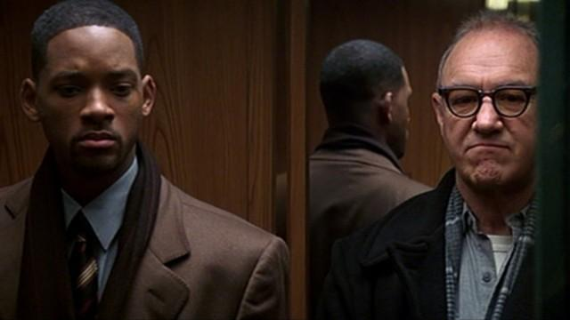 Will Smith and Gene Hackman in Enemy of the State.