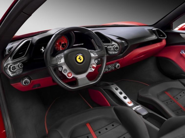 Interior of a sports car