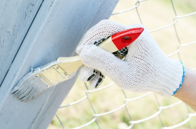 Painting fence