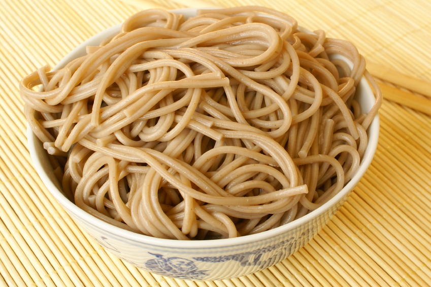 bowl of soba noodles