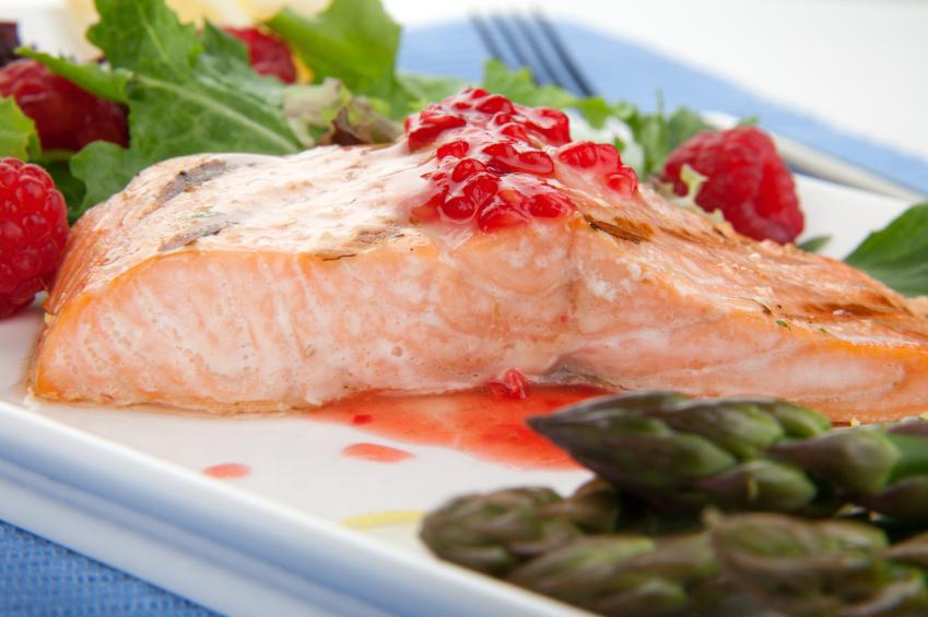Grilled Raspberry Salmon